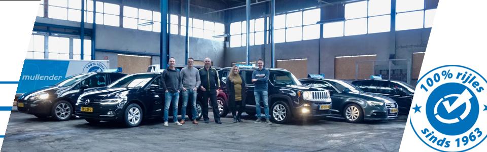 Het team van rijinstructeurs van Autorijschool Mullender