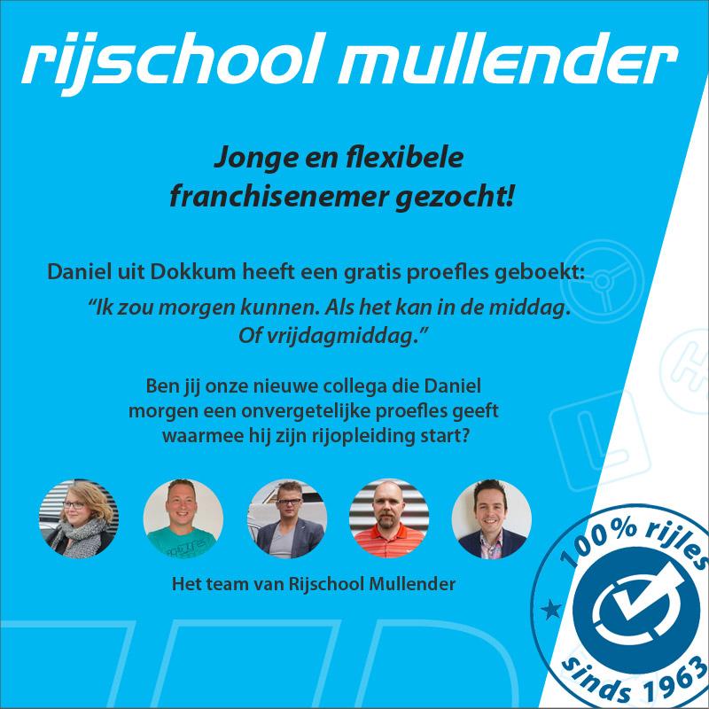 Vacature rij-instructeur Friesland: Rijschool Mullender